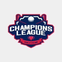 Champions League Golf Team logo template Thumbnail