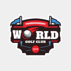 World Tournament Golf club logo template Thumbnail