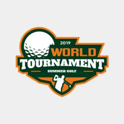 World Tournament Simmer Golf logo template Thumbnail