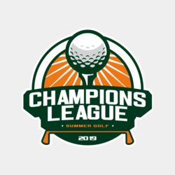 Champions League Summer Golf logo template Thumbnail